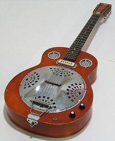 Rare Vintage 1966 Mosrite Dobro D12-e 12 String Resonator Guitar W/case D12e - http://www.dobroguitar.org/for-sale/rare-vintage-1966-mosrite-dobro-d12-e-12-string-resonator-guitar-wcase-d12e/22092/