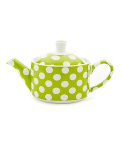Take a look at this Yedi Houseware Lime Green Polka Dot Small Teapot by Yedi Houseware on #zulily today!
