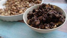 Ötperces nassolnivaló: csokis pirított dió | Mai Móni Cereal, Paleo, Food And Drink, Sweets, Beef, Cookies, Breakfast, Health, Sweet Pastries