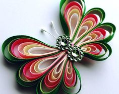 Rainbow Butterfly, Baby Toddler Girl Butterfly Hair Clip, Cute Butterfly Alligator Clip, Green Pink Yellow White, Grosgrain Ribbon by CzechOutMyBows on Etsy Quilling Butterfly, Rainbow Butterfly, 3d Quilling, Butterfly Baby, Rainbow Ribbon, Rainbow Baby, Quilled Roses, Butterflies, Quilled Paper Art
