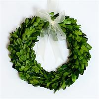 Preserved Boxwood Round Wreath - 8 inch:  I love the look of these wreaths around the house at Christmastime.