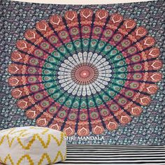 Color Of Rajasthan Queen Size Bohemian Tapestry Wall Hanging - Shri Mandala