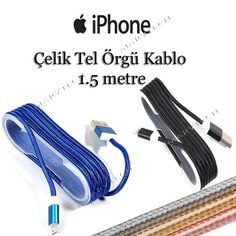 Apple Iphone 5 5s 5se 6-6s-6 Plus Çelik Usb Şarj Data Kablosu 14,50 TL ve…