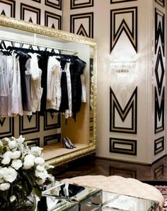 Black gold and cream dramatic walls