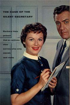 Della Street aka Barbara Hale and Perry Mason aka Raymond Burr TV Guide (1958)