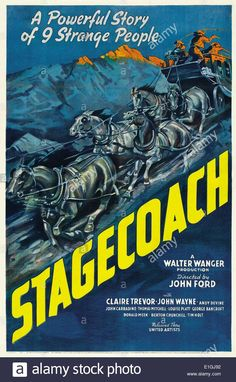 """""""stagecoach"""" A 1939 Ameerican Western Film Directed By John Ford Stock Photo, Royalty Free Image: 69821726 - Alamy"""