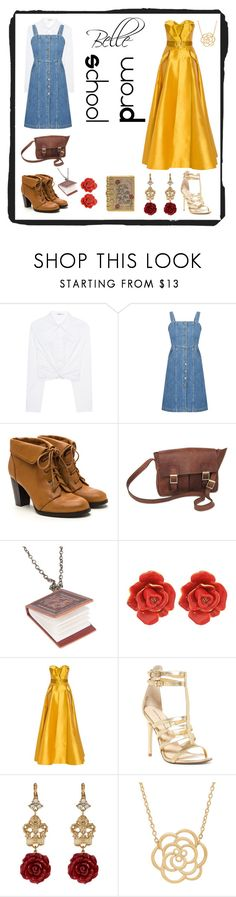 """""""Belle casual & formal"""" by misszizzentyu ❤ liked on Polyvore featuring T By Alexander Wang, Gestuz, NOVICA, Disney, Oscar de la Renta, Alexis Mabille, Chinese Laundry, Dolce&Gabbana, Lord & Taylor and Judith Leiber"""