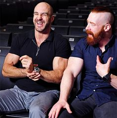 Seth is jealous of us Antonio Cesaro, Wwe Sheamus, Dolph Ziggler, Wwe Superstars, Biceps, Gorgeous Men, Redheads, Superman, Actors & Actresses