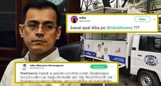 "Manila Mayor Isko Moreno reacted to a netizen who called out his attention upon seeing his photo on a food cart after he implemented the ""bawal epal"". Gma New, Manila, Growing Up, Leadership, Politics"