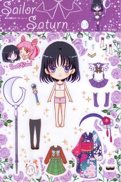 (⑅ ॣ•͈ᴗ•͈ ॣ)❤ My Sailor Moon paper dolls