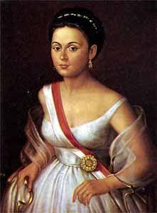 """Manuela Sáenz Aizpuru, la """"Heroína de Quito"""", compañera sentimental de Simón Bolívar y reconocida como la heroína de la independencia de América del Sur."""