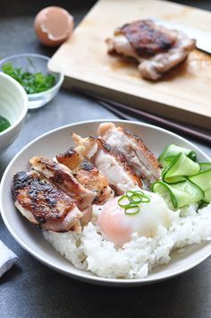 Chicken and Egg  COOKED IT: Good, easy, filling lunch or dinner for one Chicken Eggs, Chicken Rice, Cooked Chicken, My Recipes, Asian Recipes, Dinner Recipes, Chicken Recipes, Healthy Recipes, Cooking Recipes