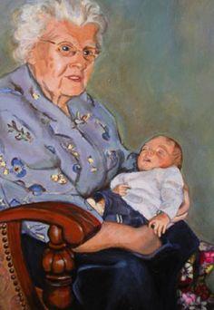 Grandmother portret Lida Meines Portrait Art, Portraits, Babys, Childhood, Paintings, People, Crafts, Portrait, Faces