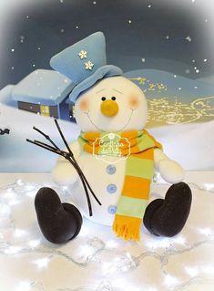 Felt Christmas, Xmas, Christmas Ideas, Snowman, Country, Teddy Bear, Pasta Flexible, Animals, Christmas Ornaments