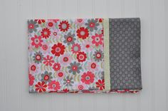 Flower Standard size pillowcase, Holiday, Christmas Gift, Pink, Gray, Red, Silver, kids pillowcase, child pillowcase, Gifts Under 20.00 by BlackKatStudio on Etsy