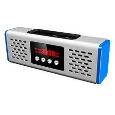 [US$ 22.99] LED Digital Tube Display Compact Design Tiny Speaker with TF Card Slot,USB Host,FM