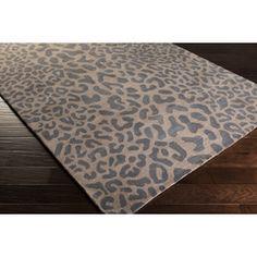 Leopard Pattern Rug - Taupe & Grey   Scenario Home