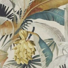 Lush and tactile, Catherine Martin's classic La Palma wallpaper celebrates Old Hollywood glamour while borrowing the tropical elegance and palm motifs of mid-century Miami. This neutral tropical wallpaper is perfect for a chic dining room. Palm Wallpaper, Tropical Wallpaper, Master Bedroom Redo, Embossed Paper, Old Hollywood Glamour, Nursery Design, Tropical Leaves, Leaf Design, Designer Wallpaper
