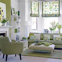 Decoración Interior con Colores Fríos: Azul y Verde   Ideas para decorar, diseñar y mejorar tu casa.