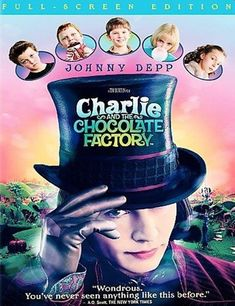 willy wonka and the chocolate factory dvd family movie widescreen  charlie and the chocolate factory dvd 2005 full frame used g