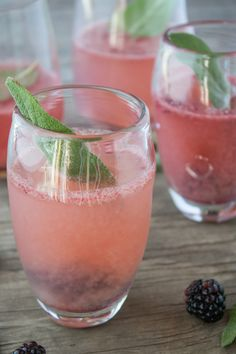 Blackberry & sage champagne cocktail