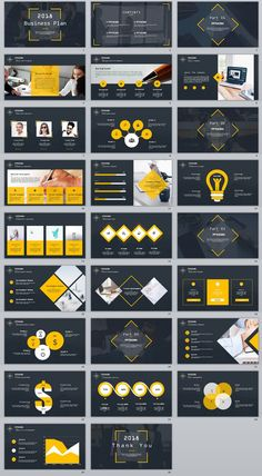 Business infographic : 26 company business Year report PowerPoint Template on Behance #powerpoint #tem