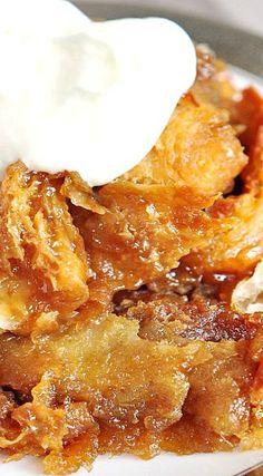 Caramel Croissant Bread Pudding