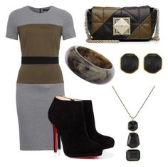 """""""Throw On And Go"""" by jennyb-rocks on Polyvore featuring French Connection, Christian Louboutin, Dorothy Perkins, Sonia Rykiel and Kenneth Jay Lane"""