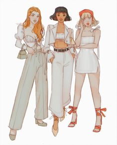 Girl Cartoon Characters, Cartoon Outfits, Cartoon Art, Cartoon Images, Fictional Characters, Art Drawings Sketches, Cute Drawings, Clover Totally Spies, Cute Art Styles