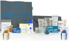 SkinCareRx Beauty Cache!  Our customers love this and so will you.  BOGO from now until Sunday(2/5)!    This bundle includes our latest beach tote, as well as our popular clutch bag that fits perfectly inside. Each bag includes a product from Kinerase, Epionce, Peter Thomas Roth, NUXE, Vichy, Colorescience, and NIA24, as well as two full size mystery gifts. We've also included two 20% off gift cards for two future purchases. $40