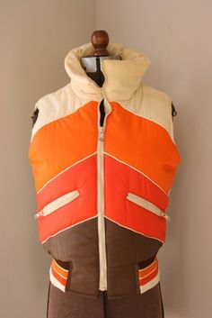 Retro ski vest - something fun about the colors and shapes