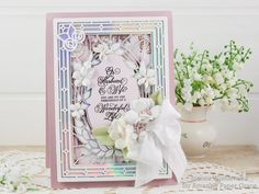 Joanna Wiśniewska: Wedding Day Card Middle Parts, Large Flowers, Wedding Day, Card Stock, Cards, Bloom, Becca, Paper, Amazing