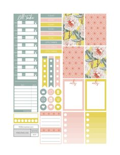 Free Vintage Floral Planner Stickers - Fit Life Creative