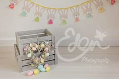 Easter Digital Background for Child and Baby Photography