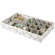 9 Section Jewelry Tray Drawer Organizer Light Blue Home Accents