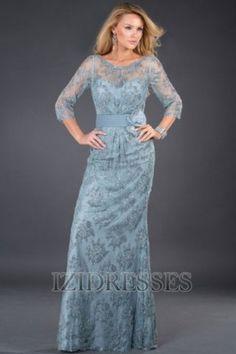 A-Line/Princess Bateau Floor-length Lace Mother of the Bride - IZIDRESSES.com at IZIDRESSES.com