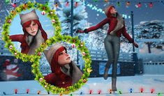 Rin-Anj My Sims, Winter Collection, Snowman, Poses, Christmas Ornaments, Holiday Decor, Inspiration, Ideas, Figure Poses