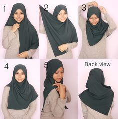 Tutorial Hijab Segi Empat Satin Simple Tanpa Ciput Kerudung Hijab Gaya Hijab