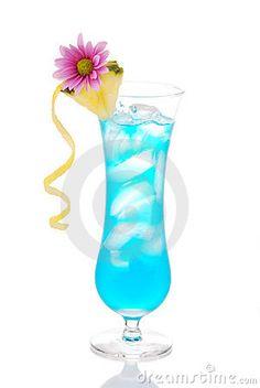 Blue Hawaiian Curacao Cold Cocktail Stock Photo - Image of lagoon, garnish: 18870538 Blue Curacao, Blue Hawaiian, Photo Blue, Cocktails, Drinks, Liquor, Royalty Free Stock Photos, Alcohol, Cold