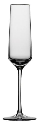 $77.90-$95.94 Schott Zwiesel Tritan Crystal Stemware Pure Collection Champagne Flute With Effervesence Points 7.1 Ounce, Set of 6 - Schott Zwiesel, the famed German producer of The Best Crystal Glassware has been a leader in innovation, style and technology for more than 100 years.  The company has many firsts to its credit, including the first fully automated product of glass blown glass stemwa ...