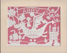 Abby personalised nursery papercut