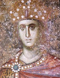 Святой Пророк Царь Соломон. Фреска монастыря Сопочаны, Сербия. XIII век.