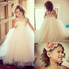 Stylish Flower Girl Dress - Jewel Sleeveless Flooor-Length with Lace Top Bowknot