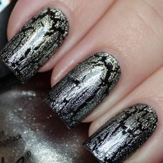 Nicole By OPI Metallic Crackle Nail Polish SILVER TEXTURE Full Size #OPI