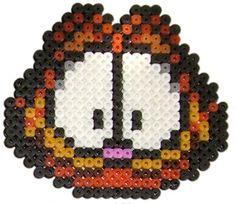 Garfield hama beads by pixgraff