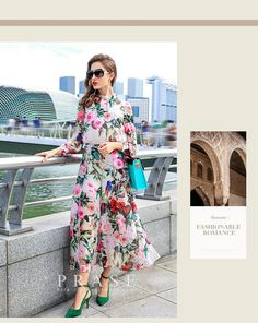 2016 New Arrival 2016 Summer Europe Brand Fashion Designer Floral Print Long Sleeve Stand Collar Wide Leg Chiffon Jumpsuits Rompers For Women From Computer2012, $70.77 | Dhgate.Com