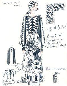 Chloé by Karl Lagerfeld  Spring-Summer 1972  Rachmaninoff dress © Chloé-Wmag