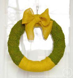 Burlap Moss Wreath