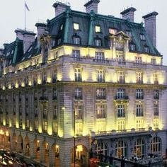The dream is to stay a weekend or night with someone special at the Ritz Hotel in London, famous for it's High Tea