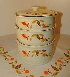 Jewel Tea Autumn Leaf 4 Piece Stack Set by Hall China